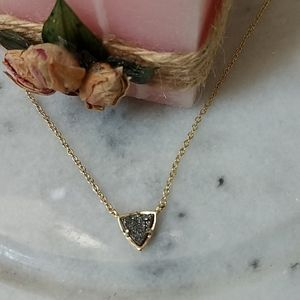 Kendra Scott Tess gold pendant drusy necklace